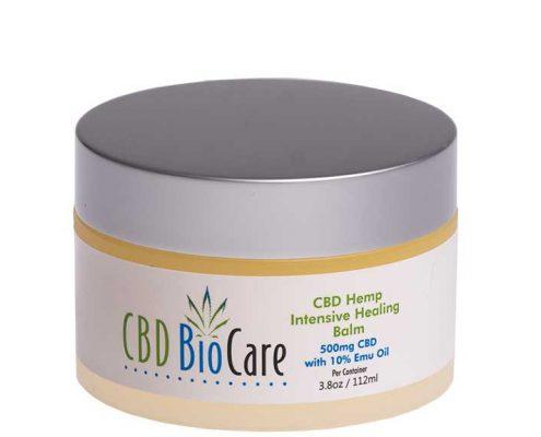 cbdbiocares cbd pain lotion in a jar